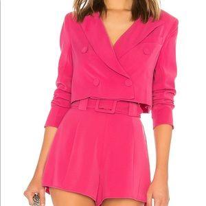 Lovers and Friends Magenta Pink Blazer Shorts Crop